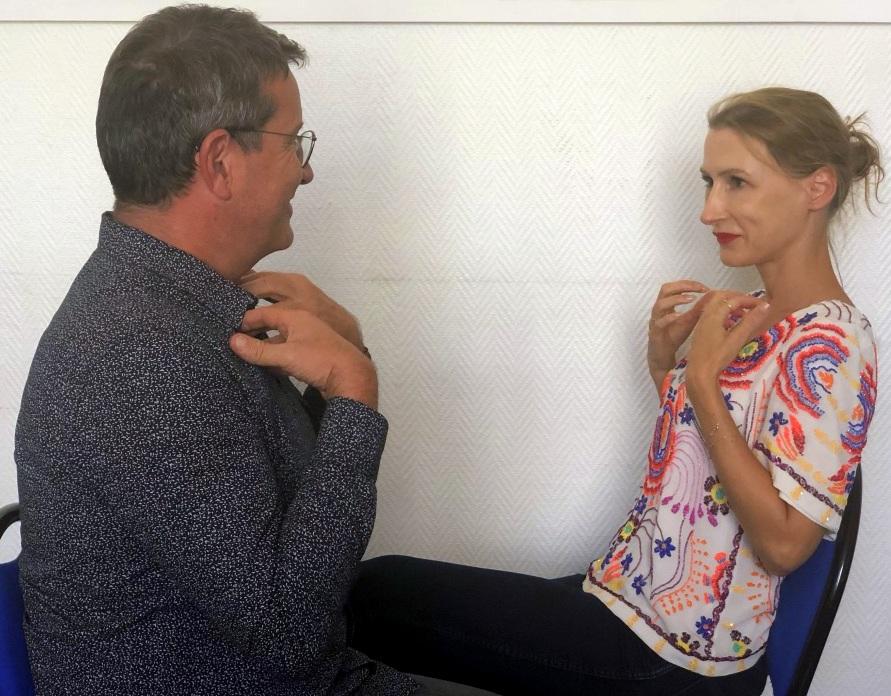 Aude Turpault et Jean-Michel Gurret, fondateur et Président de l'IFPEC  l'Institut Français de Psychothérapie Émotionnelle et Cognitive